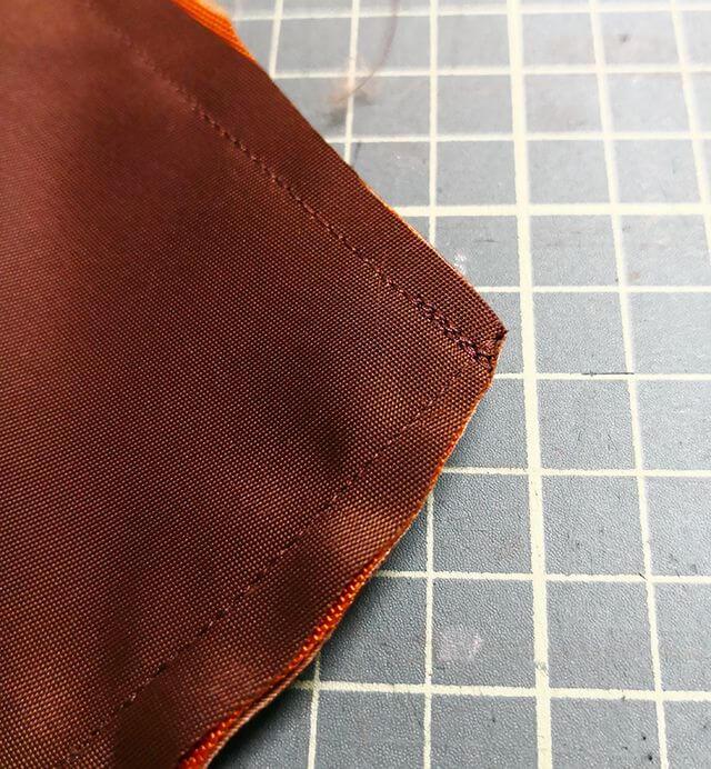 角の縫い代