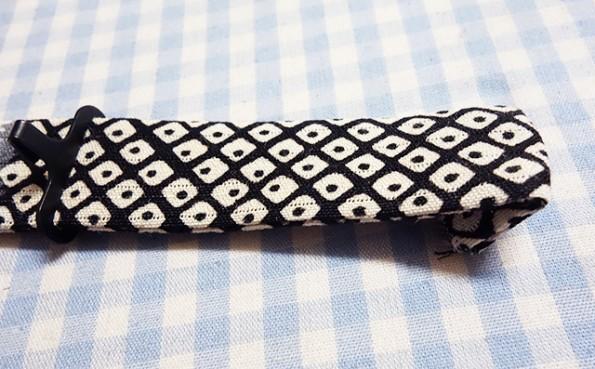 蝶ネクタイの先の処理