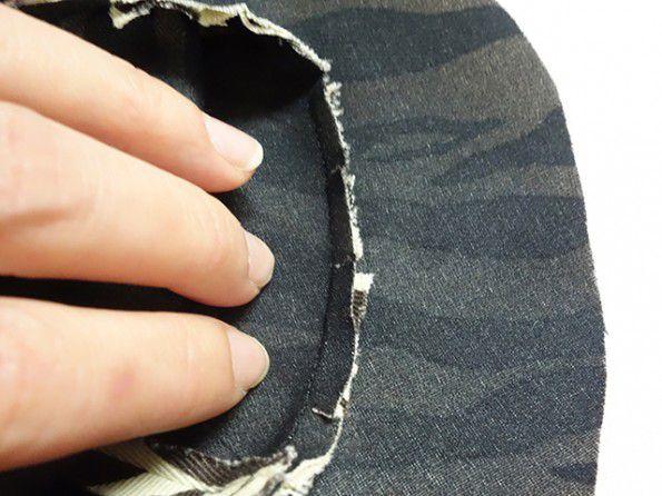 縫い代を倒す