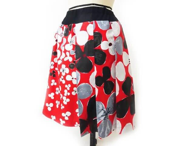 プリーツ&ギャザーのアシンメトリースカートの作り方と型紙