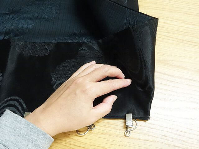 鞄の角を縫うコツ