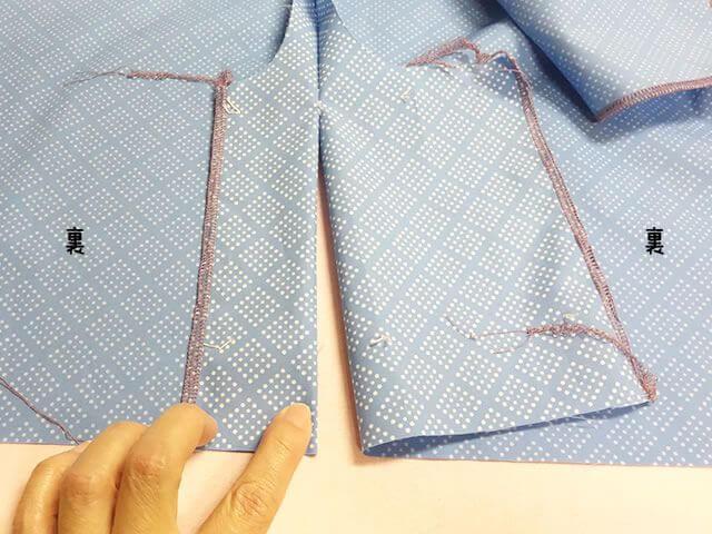 ベンツあき止まりまで縫う