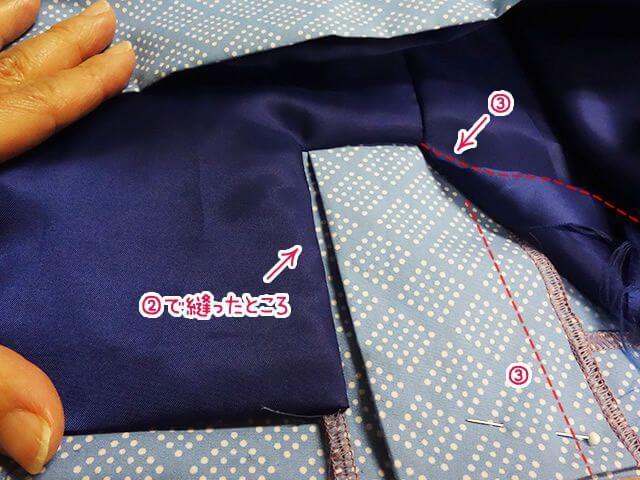 ベンツのサイドが縫えた
