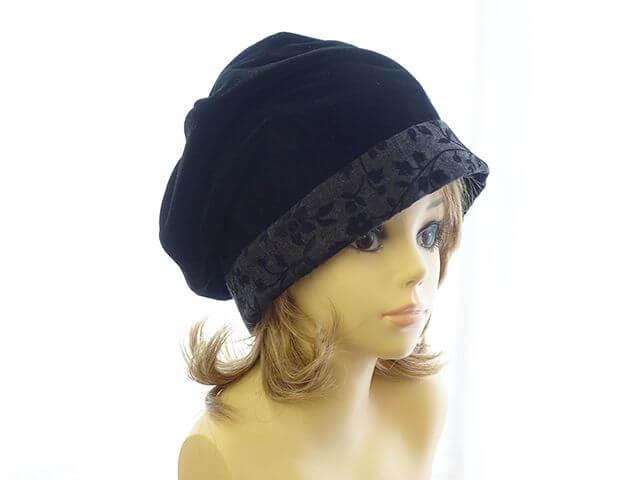 6枚ハギのたるみベレー帽