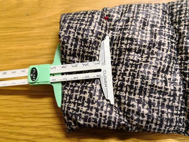 袖口を測る