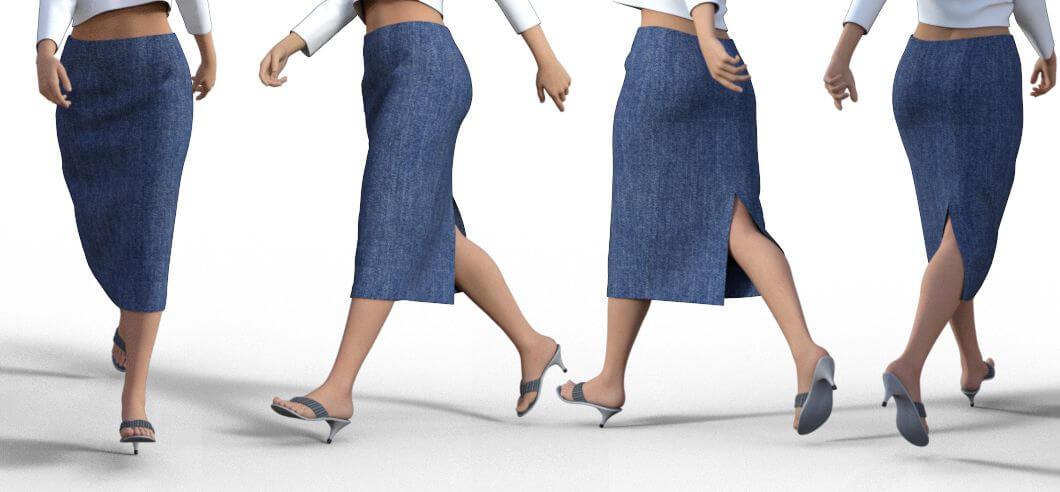 ロングのタイトスカート型紙