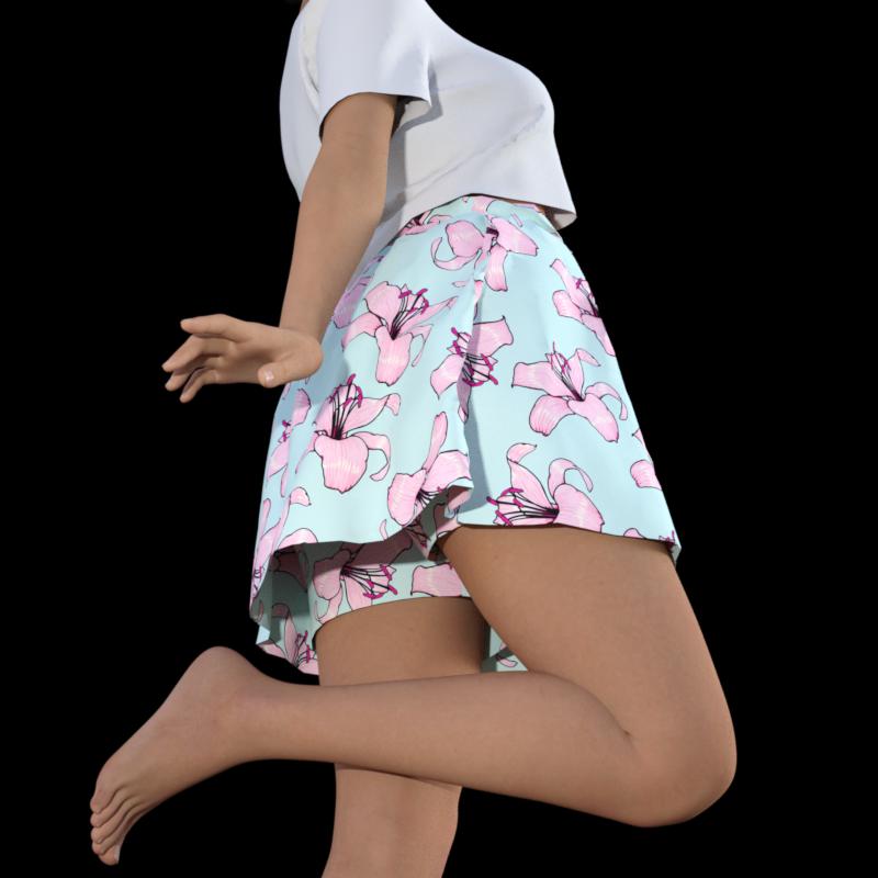スカートがめくれても安心