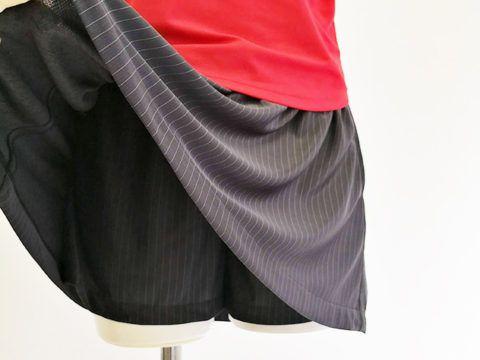 テニススコート付きパンツ