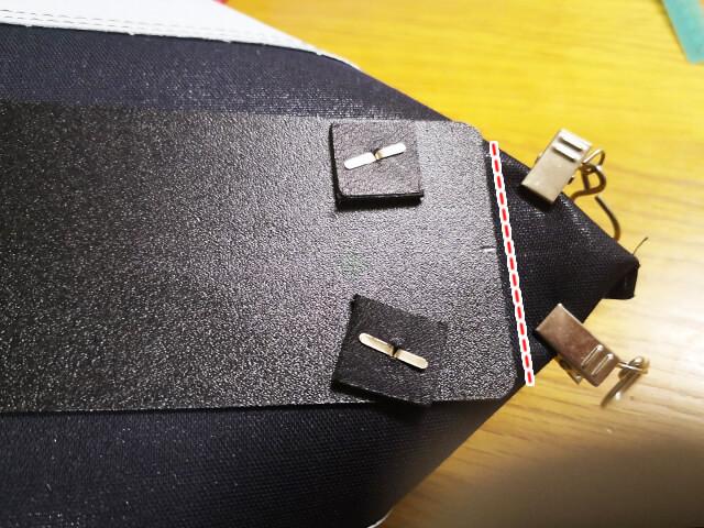 かばんのマチを縫う