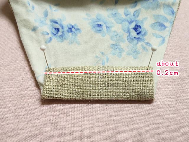 stitching the edge