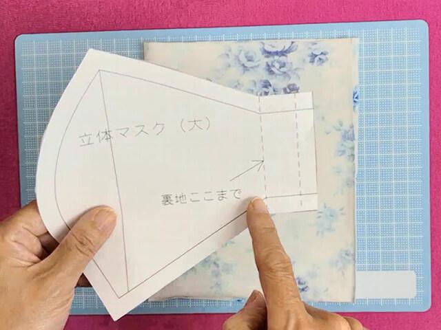 型紙を裏地用に変化