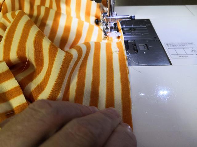 ひっぱり縫い
