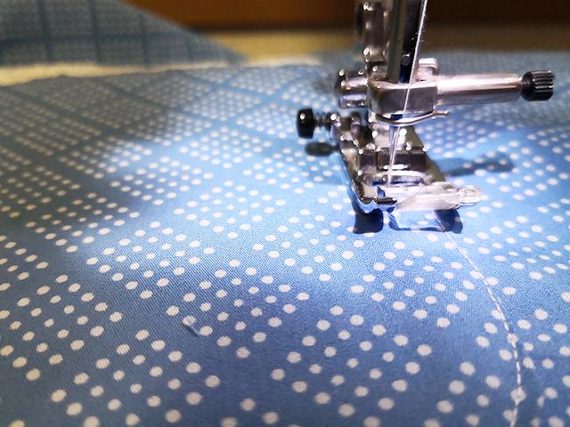 ダブルステッチの縫い方