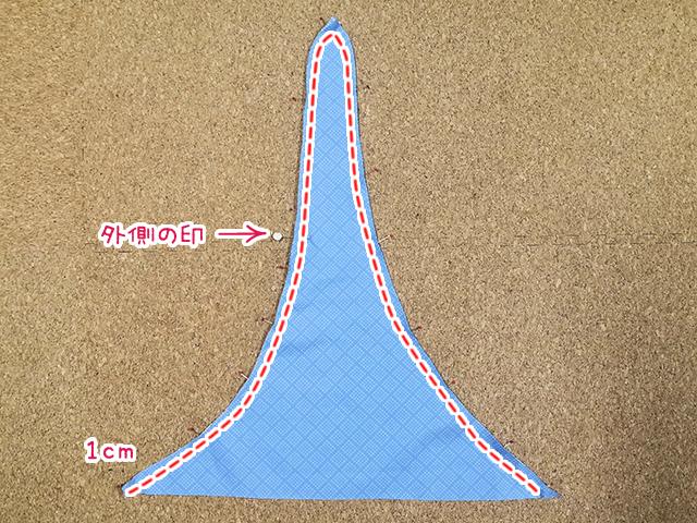 三角形を縫う