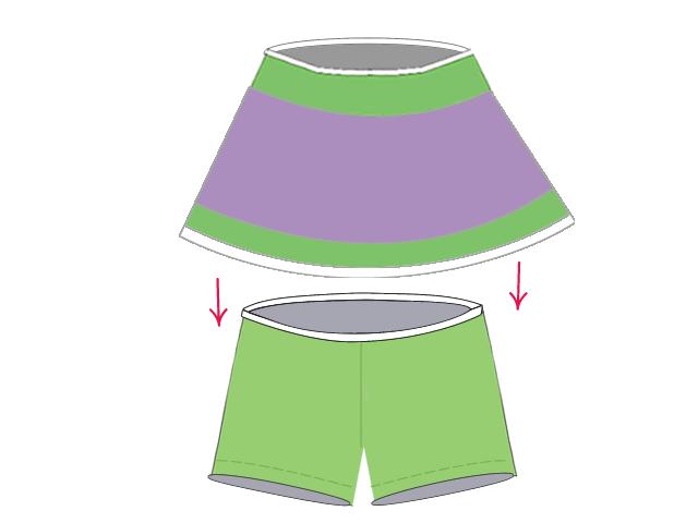 スカートとパンツを合わせる